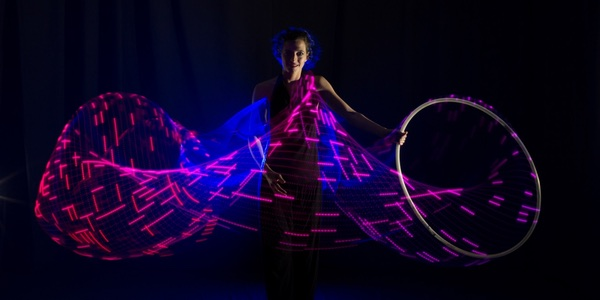 LED Hula Hoop Showact