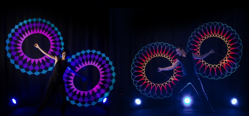 Lichtshow LED Jonglage Showact