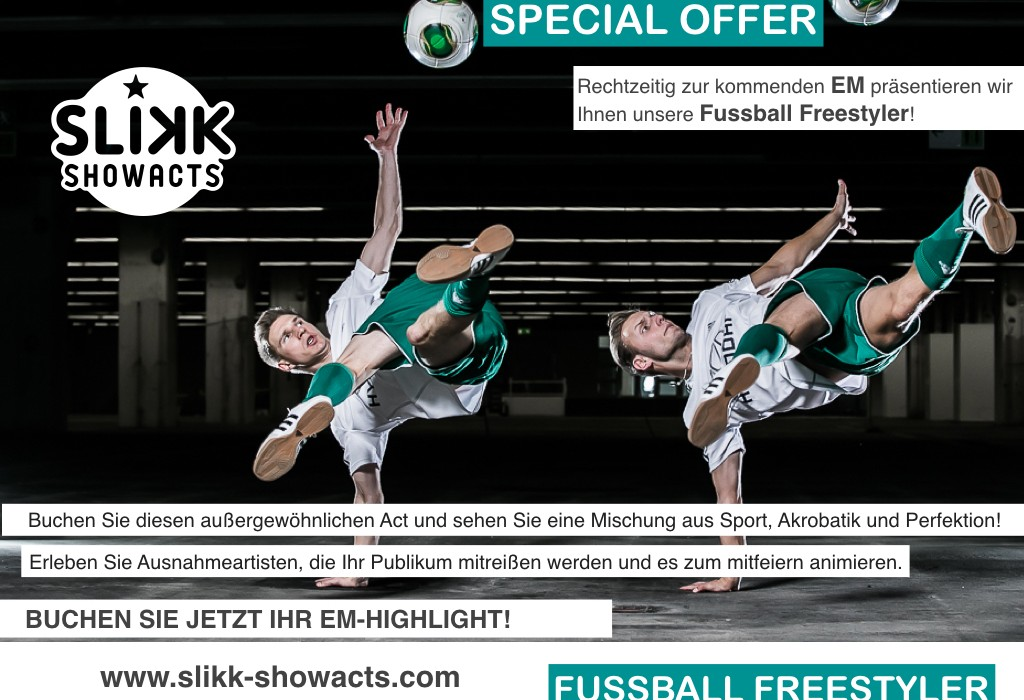 Fussball Freestyler Showact EM 2016